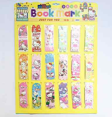 Hello Kitty Paper Bookmark x18 Different Size
