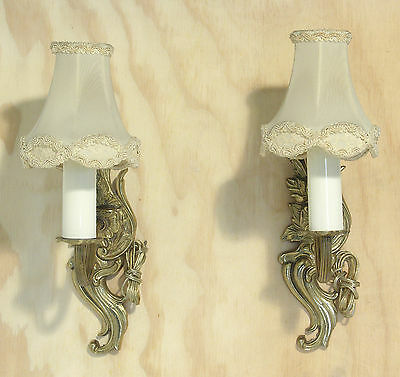 Gilded Rococo Style French Wall Lamps X2