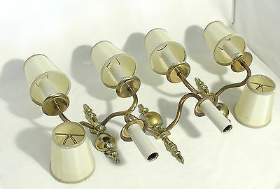 Gilded French Dual Wall Lamps (X3)