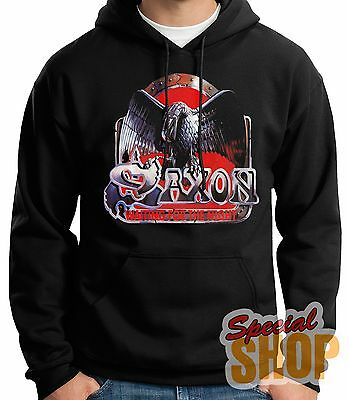 "SWEATSHIRT WITH HOOD""SAXON-WAITING FOR THE NIGHT-METAL""HOODIE,SHIPPING 24/72 h"