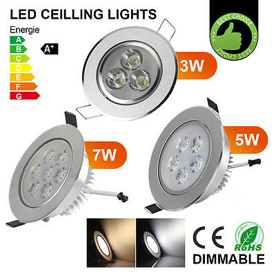 3W 5W 7W Dimmable LED Recessed Lighting Fixture-LED Ceiling Down Light & Driver