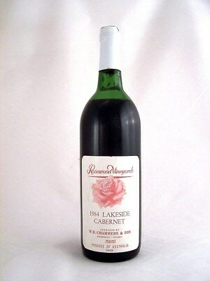 1984 CHAMBERS Rosewood Winery Lakeside Cabernet Isle of Wine