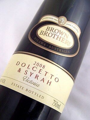 2008 BROWN BROTHERS Dolcetto & Syrah Red Blend Isle of Wine
