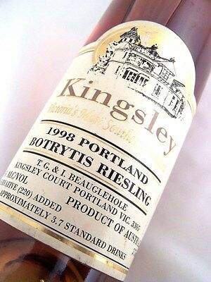 1998 KINGSLEY Portland Botrytis Riesling 375ml Isle of Wine