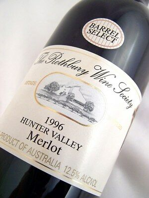 1996 ROTHBURY ESTATE Barrell Select Merlot D Isle of Wine
