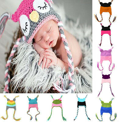 Baby Soft  Knitted Crochet Custom Made Baby Worm Hat Newborn Photography Prop