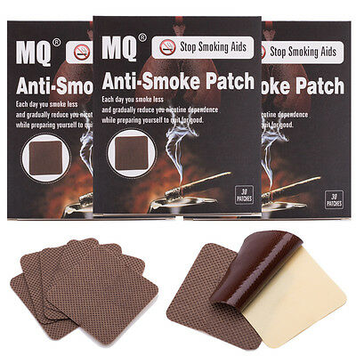 3 Months/ 90PCS STOP QUIT SMOKING PATCHES NATURAL NON No Nicotine Patch Therapy