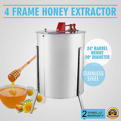 "4/8 Extracteur De Miel Actionnement Manuel 15"" Diamètre Apiculture Updated"