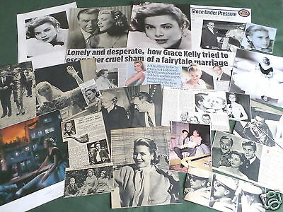"""Grace Kelly - Film Star - """"  Clippings /cuttings Pack """""""