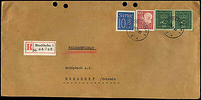 Sweden 1965 Registered Cover #C37821