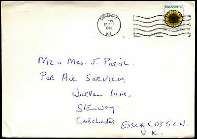 Singapore 1976 Cover To UK #C37819