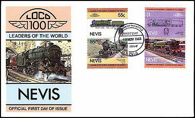 Nevis 1983 Railway Locomotive FDC First Day Cover #C37707