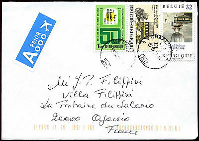 Belgium 2013 Commercial Airmail Cover To France #C37655