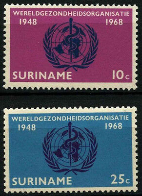 Suriname 1968 SG#631-2 World Health Organisation MNH Set #D34437