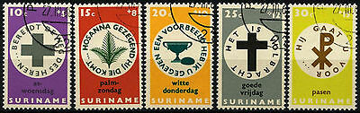 Suriname 1968 SG#626-630 Easter Charity Cto Used Set #D34435