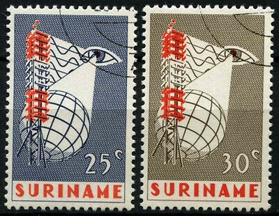 Suriname 1966 SG#596-7 Television Service Cto Used Set #D34413