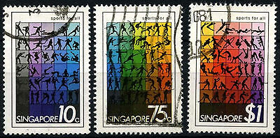 Singapore 1981 SG#404-6 Sport FOr All Used Set #D34596