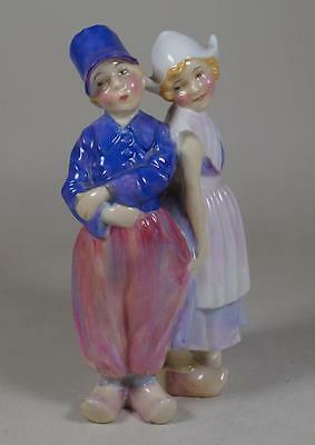 Royal Doulton Early Boy & Girl Figure Willy Won't He HN 1573 Potted by Doulton