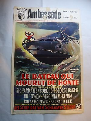THE SHIP THAT DIED OF SHAME/RICHARD ATTENBOROUGH /belgian poster