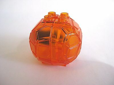Lego Trans-Orange ROCK BOULDER Container with Blue Crystal - NEW!  part 23447