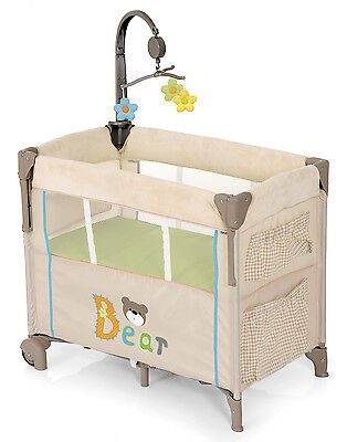 New Hauck Bear Dream N Care Bassinette Portable Baby Travel Cot Dropside