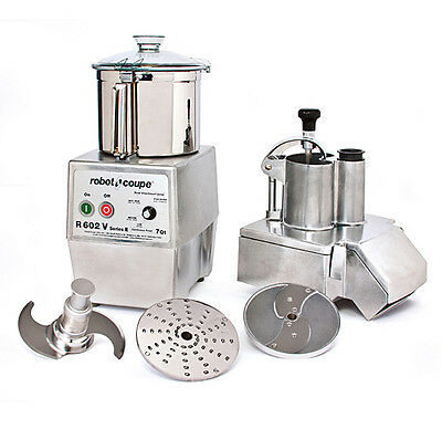 Robot Coupe R602VV Variable Speed Combination Food Processor w/ 7 Qt. SS Bowl