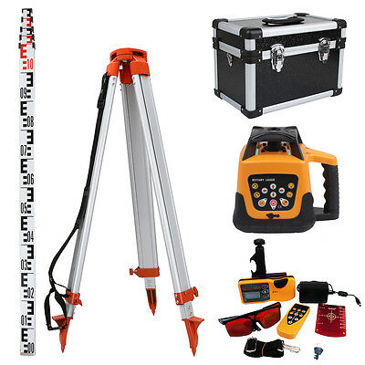 Automatic Self Levelling Rotating Red Laser Level Rotary Laser With Tripod Staff