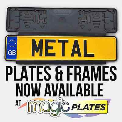 2 x Black Quickfit License Number Plate Holder Surrounds