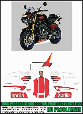 kit adesivi stickers compatibili tuono 1000 r racing 2005
