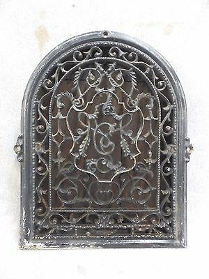 Vintage Cast Iron Arch Top Dome Heat Grate Wall Register Black 1754-16