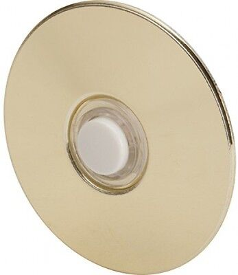Everyday Round Door Bell Chime Button, Size: 2-1/2 , Brass