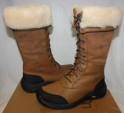 282fc052e4b UGG WOMEN'S ADIRONDACK Tall Otter brown Leather Waterproof boots New With  Box!