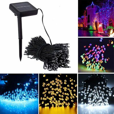 100/200 LED String Solar Light Outdoor Garden Xmas Party Fairy Tree Decor Lamp