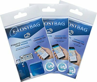 Pack of 5 Luggage Labels Connected - RFID/NFC - identifiable by All Airlines