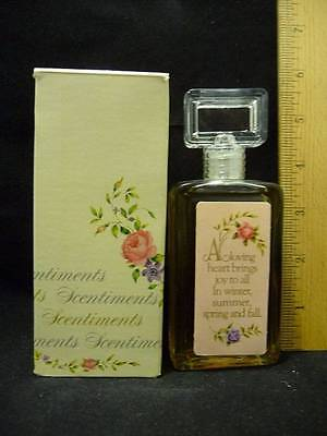 Vintage Avon Scentiments Here's My Heart Cologne 2 oz w/Box 5
