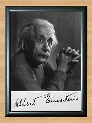 Albert Einstein Physicist Memorabilia Signed Autographed A4 Print Photo Poster
