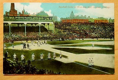 Chicago Cubs Baseball Game West Side Ball Grounds Postcard c.1909 Colts Orphans