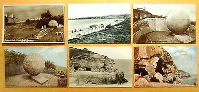 6 Postcards Swanage Dorset Isle of Purbeck England UK Globe Tilly Whim Cave 1905