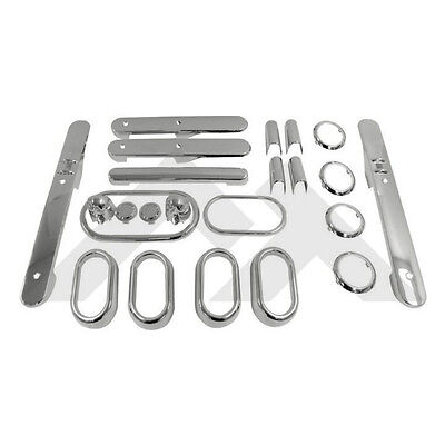 Complete Interior Trim Kit 4 Dr Chrome for Jeep Wrangler JK  2007-2010 RT27030