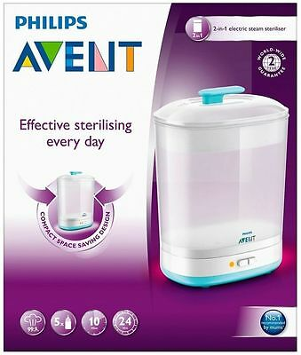 High Quality Philips Avent 2in1 Electric Baby Bottles Steam Steriliser Natural