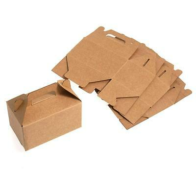 Bridal Craft Brown Paper Cube Cookie Cake Gift Favour Boxes wedding supply