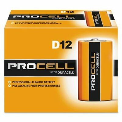New Duracell Procell D Alkaline Batteries Qty 12 (1 Box) Exp 5+ Yrs New!