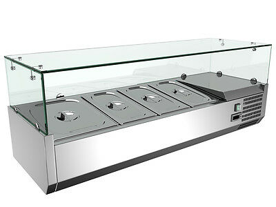 48'' Refrigerated Countertop Sandwich Prep / Pizza Prep table 110V with glasses