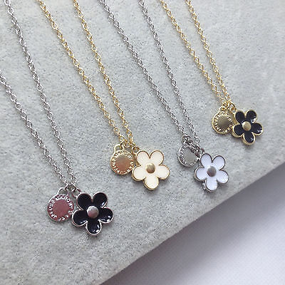Hot Sale Marc By Marc Jacobs 4Colors Flower Pendant Necklace