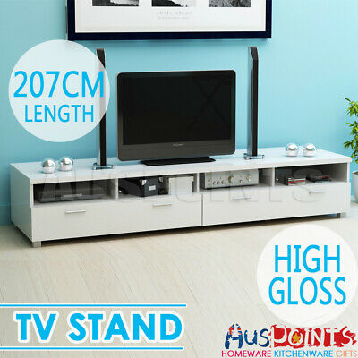 TV Stand High Gloss Entertainment Unit Cabinet Low-line Storage Drawers