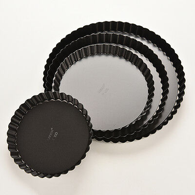 4 Sizes New Pie Cake Tart Removable Non Stick Bottom Baking Pastry Mold Pan WB
