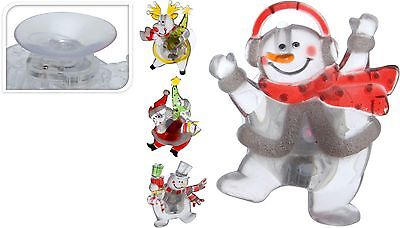 Light Up Christmas Window Decorations Santa Snowman Reindeer LED Window Light