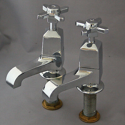 Art Deco Chrome Bath Taps