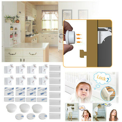 Invisible Magnetic Baby Child Kids Pet Proof Cupboard Cabinet Drawer Safety Lock