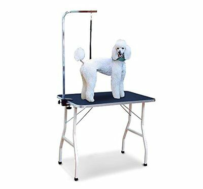 Pawhut Dog Cat Pet Grooming Table Portable Mobile Foldable Adjustable With Arm